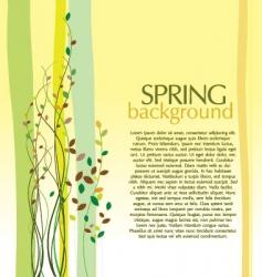 spring design background vector image vector image