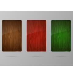 Wood framework set vector image