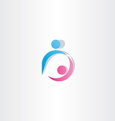 Boyfriend and girlfriend dancing icon sign logo vector