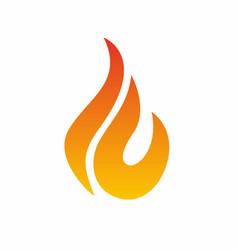flame logo fire icon fire flame logo design vector image