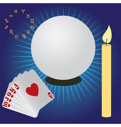 fortune telling vector image vector image