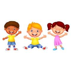 Happy young children vector image