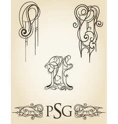 scroll collection 2 vector image