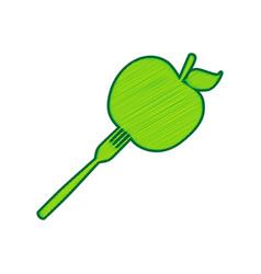 vegetarian food sign lemon vector image