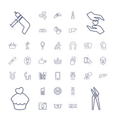 37 hand icons vector