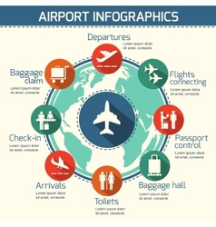 Airport infographic concept vector