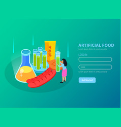 artificial food isometric background vector image