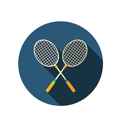 Badminton Racket flat icon Summer Vacation vector