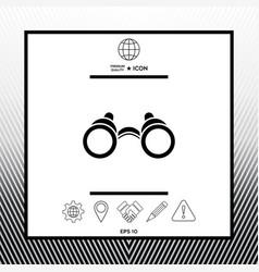 Binoculars symbol icon vector