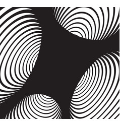 Black and white abstract spiral tunnel background vector