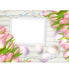 Blank picture frame on white eps 10 vector