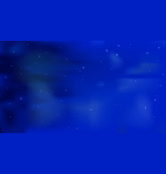 blue sky with sparkling stars astronomy vector image