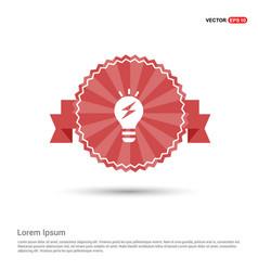 bulb concept creative idea icon - red ribbon vector image