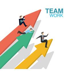 business teamwork concept vector image