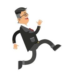 Businessman running icon vector