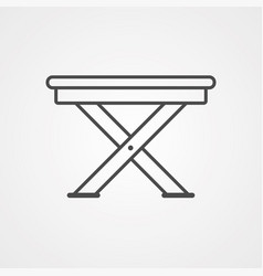 camp chair icon sign symbol vector image