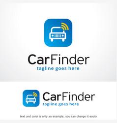 car finder logo template design emblem design vector image