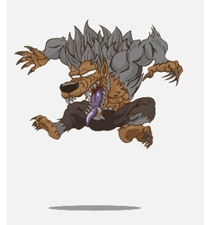 Cartoon werewolf and vector