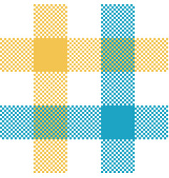 Check tablecloth pixel seamless fabric texture vector