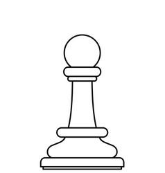 Chess pawn contour vector