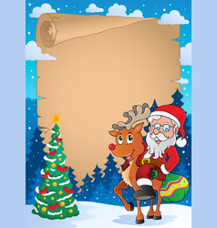 christmas thematic parchment 2 vector image