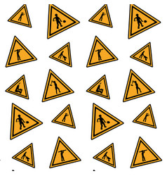 color triangle caution emblem to industry vector image