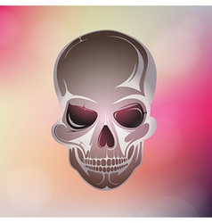 Colorful skull design vector image