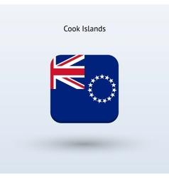 Cook islands flag icon vector
