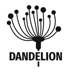 Cute dandelion logo icon simple style vector