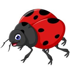 Cute ladybug cartoon for you design vector image