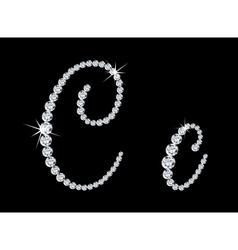 Diamond alphabetic letters c vector