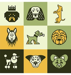Dogs logo icons vector