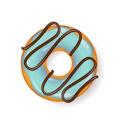 donut begel with cream cookiescookie cake vector image vector image