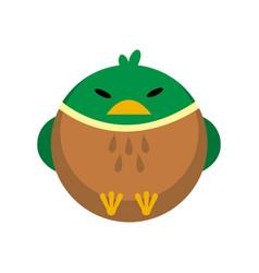 Duck flat vector