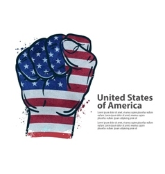 fist flag USA United States of America vector image