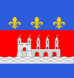 flag of saintes in charente-maritime of vector image