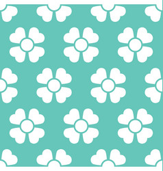 floral daisy seamless background vector image
