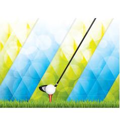 Golf brochure vector