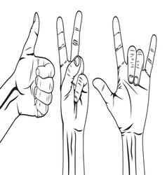 Hand symbol set vector image