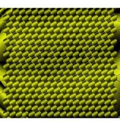 Honeycomb green background design vector