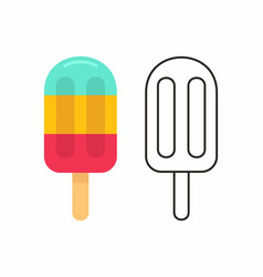 ice cream on a stick vector image