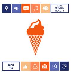 ice cream symbol vector image