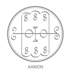 Icon with symbol demon aamon vector