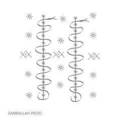 Icon with veve vodoo symbol damballah weddo vector