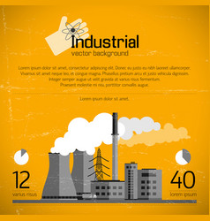 industrial enterprise background vector image