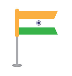 Isolated flag of india vector