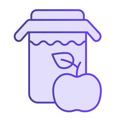 jar of apple juice flat icon fresh drink violet vector image