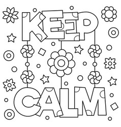 Keep calm coloring page vector