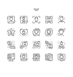 man avatar well-crafted pixel perfect vector image