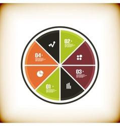 Modern business chart banner template vector